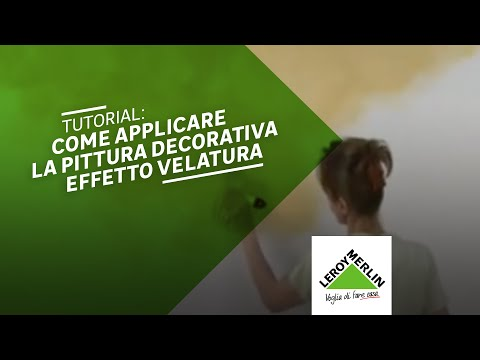 Come applicare la pittura decorativa velatura leroy for Leroy merlin pittura lavabile