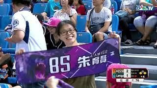 08/15 兄弟 vs Lamigo 四局下,朱育賢打破佈陣,中間方向穿越安打,讓球隊有得分的機會