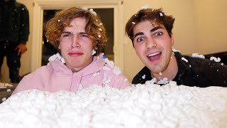 Filling Vinnie's Room With Packing Peanuts!!