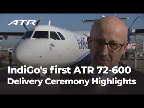IndiGo's first ATR 72-600 Delivery Ceremony Highlights