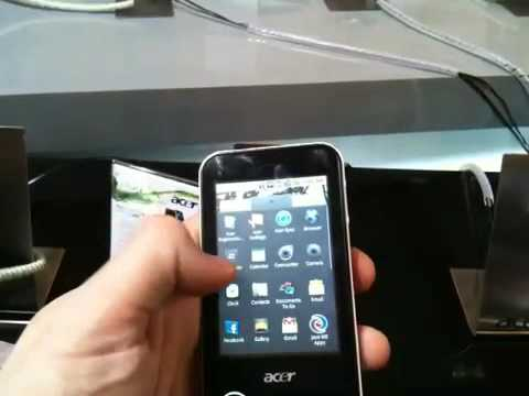 Acer beTouch E400 Android phone hands-on!