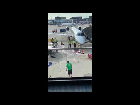 Kathi Yeager - Yikes! Watch As An American Airlines Food Cart Spins Out Of Control