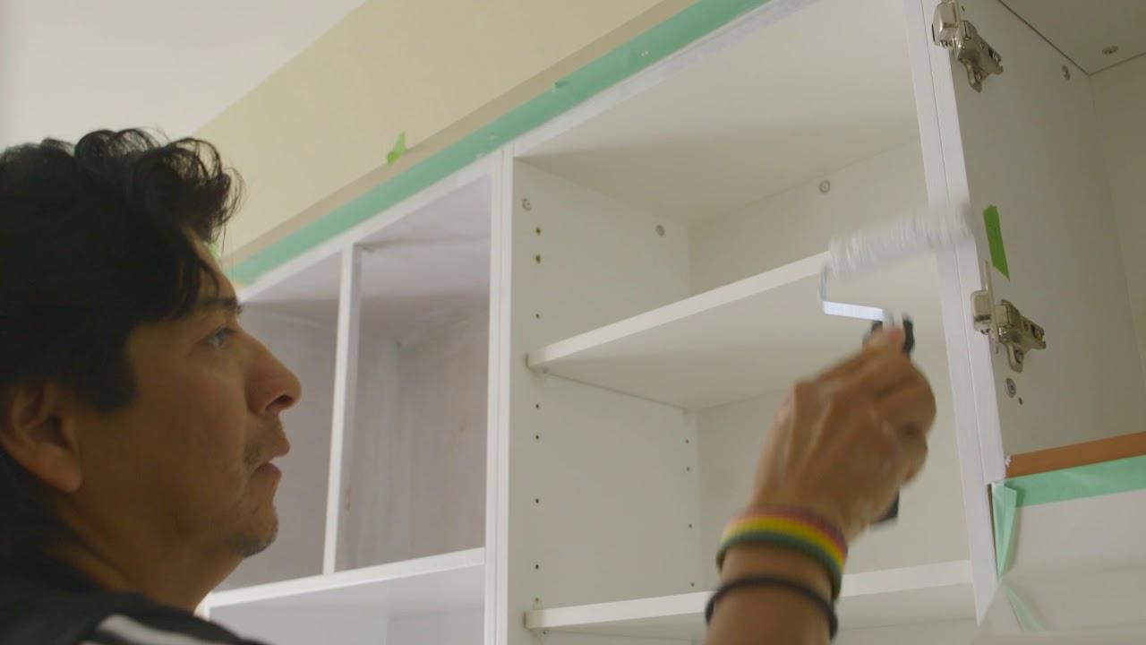 remettre vos armoires de cuisine au gout du jour partie 3 peinture youtube. Black Bedroom Furniture Sets. Home Design Ideas