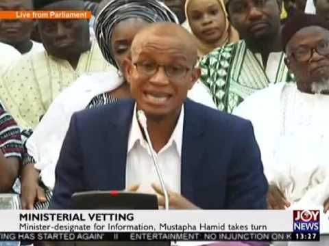 Minister-designate for Information takes turn on C'ttee - Joy News Special (9-2-17)