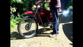 RICKMAN ZUNDAPP 125 ISDT 1974 START UP & SOUND