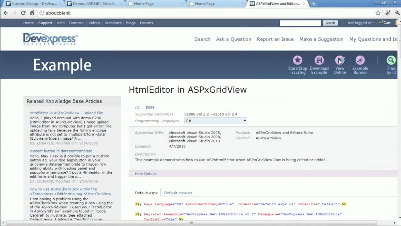 DevExpress Webinars - Getting Started with the ASP NET HTML Editor
