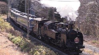 SL大樹 蒸気機関車単独運転 鬼怒川に響くドラフト音