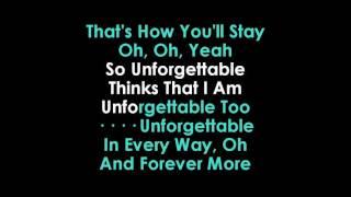 Sia Unforgettable Karaoke