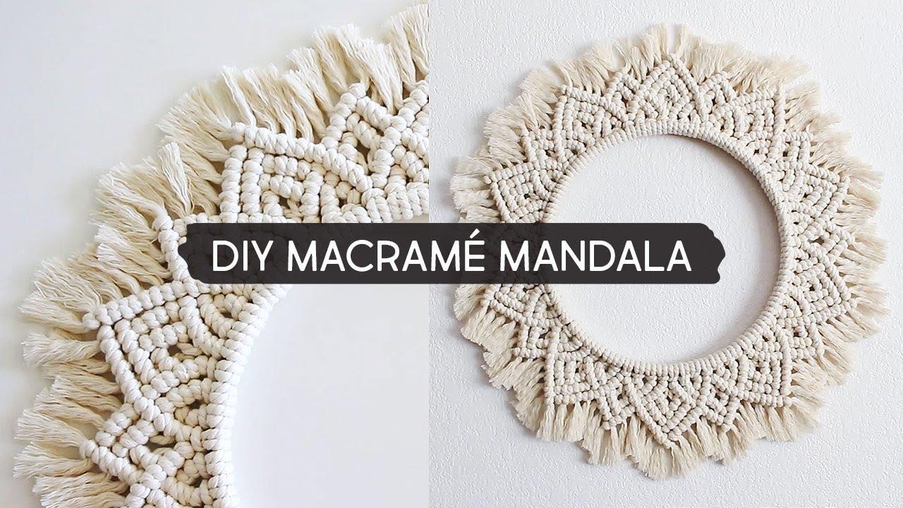 Diy Macrame Mandala Wall Hanging Youtube