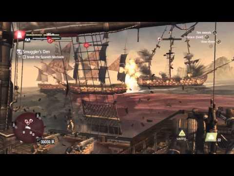Assassin's Creed 4 - Naval Contract - Smugglers Den Walkthrough