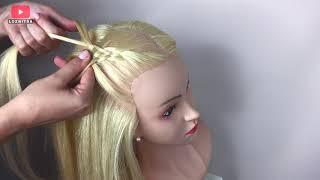 Прическа для Девочек на Каждый день Коса из 5 Прядей Пошагово 5 Strand Braid Tutorial LOZNITSA