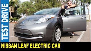 2017 Nissan Leaf electric car zero emission 172 km battery range   Jarek in Clearwater Florida USA