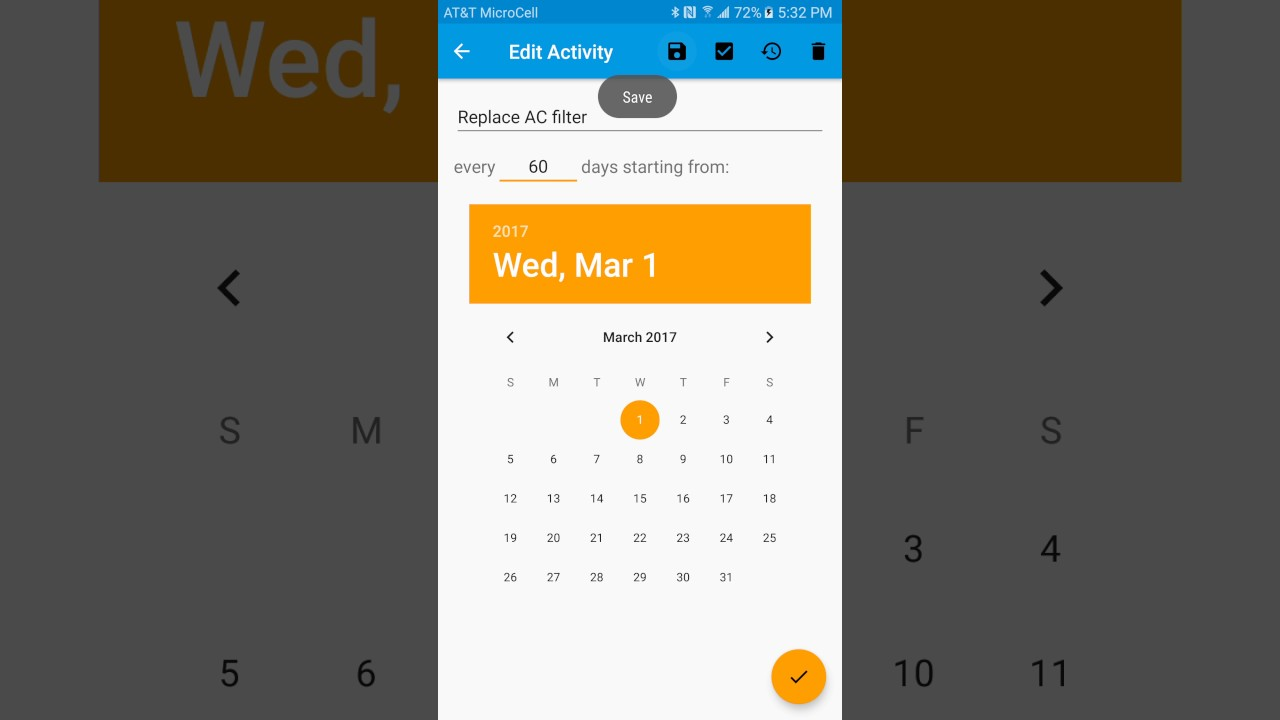 android app to track regular recurring personal home maintenance