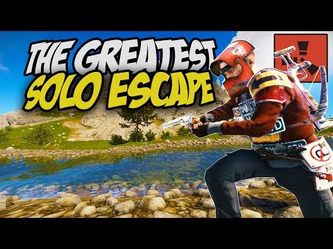 THE LUCKIEST SOLO ESCAPE! - Rust Solo Survival Gameplay