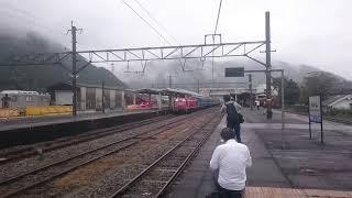 久しく但馬路を駆け抜ける青い客車‼【臨時急行白兎】DD51+12系客車