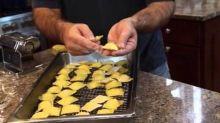 Fried Homemade Ravioli Cooking Italian with Joe