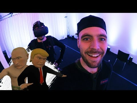 Leker i MOTION CAPTURE-studio som Donald Trump
