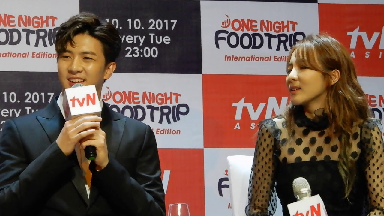 09262017 Tvn One Night Food Trip Presscon Sandara Park