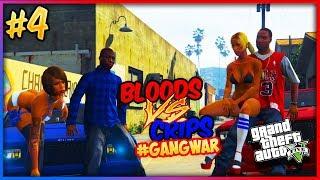 GTA 5 Twin Brothers BLOODS VS CRIPS GANG WAR #4 (GTA 5 RP)