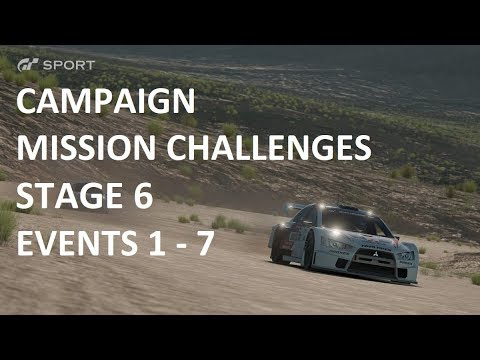 Gran Turismo GT SPORT | Campaign Mission Challenge | Stage 6 GOLD (1-7)