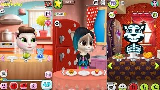 My Talking Angela VS My Talking Tom VS  Emma the Cat  Gameplay Great Makeover for Children HD