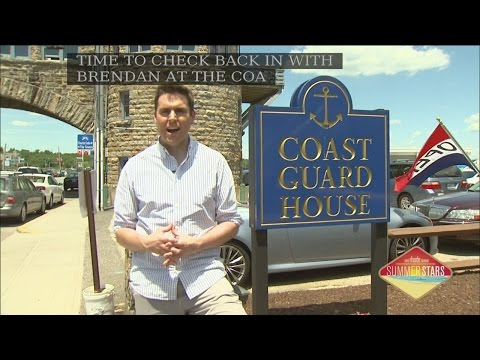 Dining al fresco at Narragansett's Coast Guard House