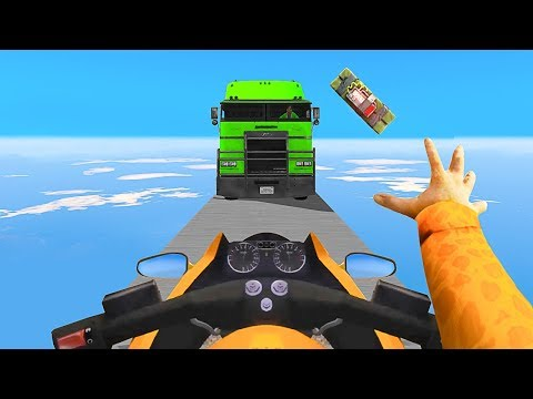STOP THE TRUCKS OR FAIL !! - GTA 5 Funny Moments