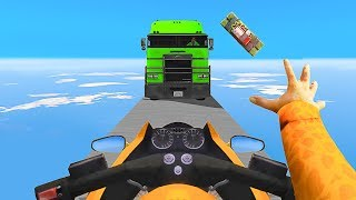 STOP THE TRUCKS OR FAIL !! - GTA 5 Funny Moments