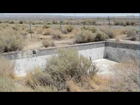 Abandoned desert swimming pool
