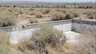 Abandoned desert swimming pool