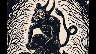 Lino cut printmaking 'Velnakmens'  (Devils stone)
