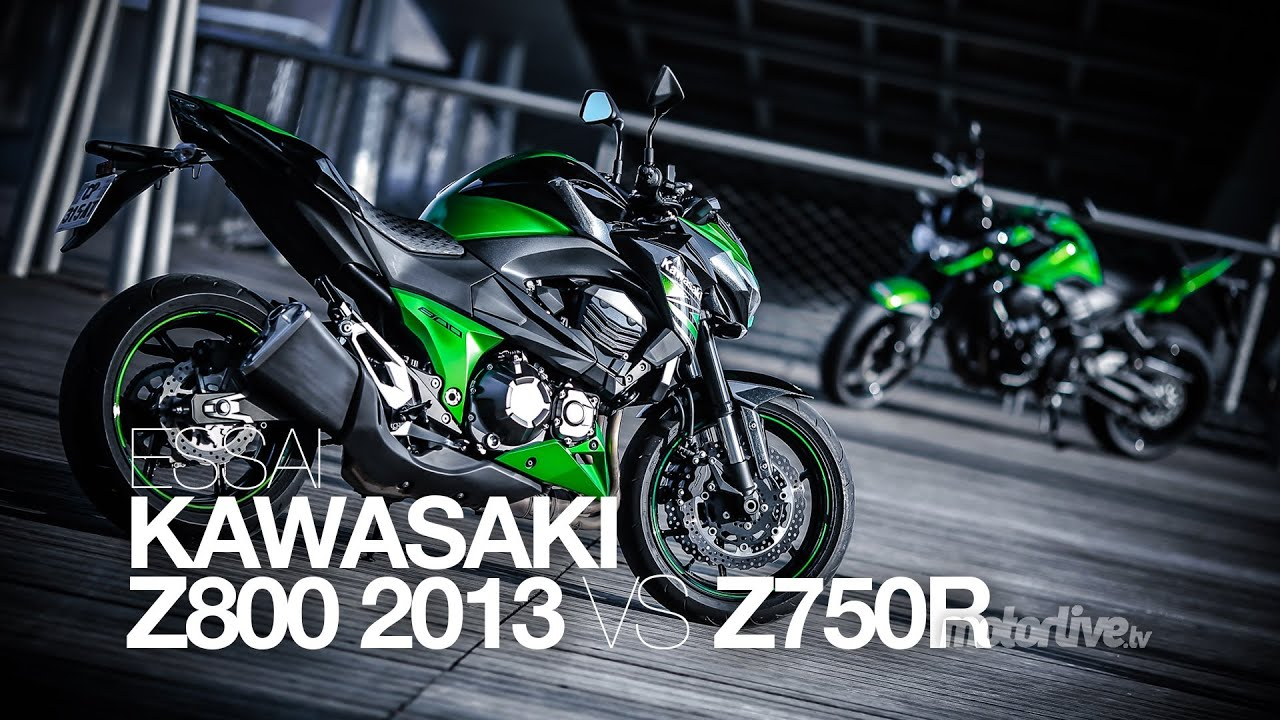 Test Kawasaki Z800 2013 Vs Z750 R 2012 Youtube