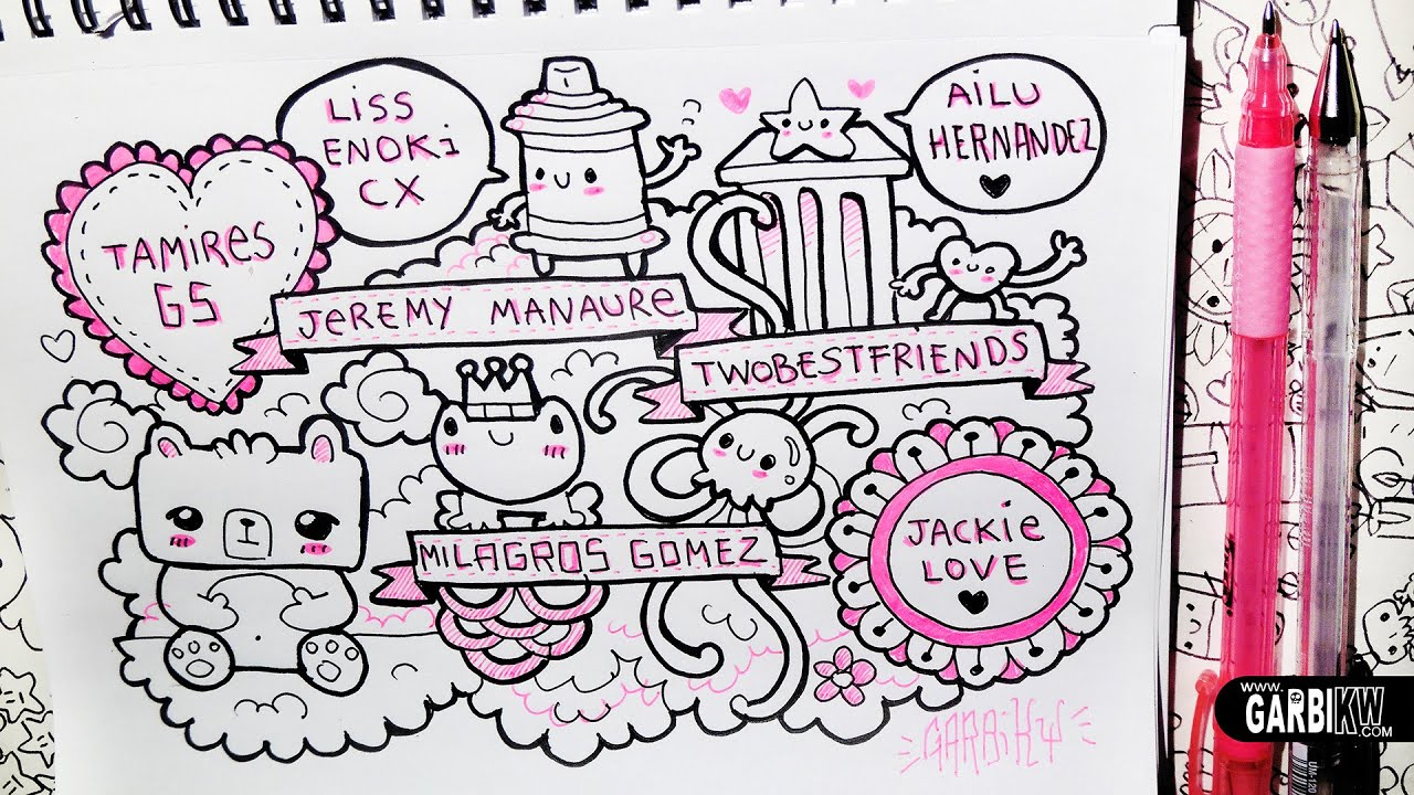 Greetings And Little Drawings Hello Doodles Easy Drawings By Garbi Kw Youtube