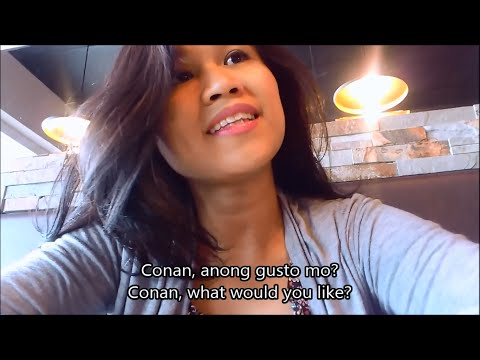 Learn Tagalog (Filipino) Conversation 6: Eating in a restaurant, English Tagalog subtitles
