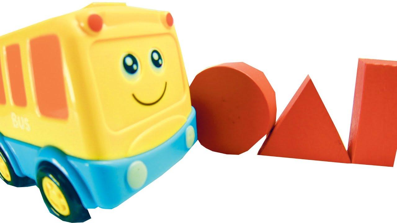 Развивающее видео для детей. Учим геометрические фигуры с ...