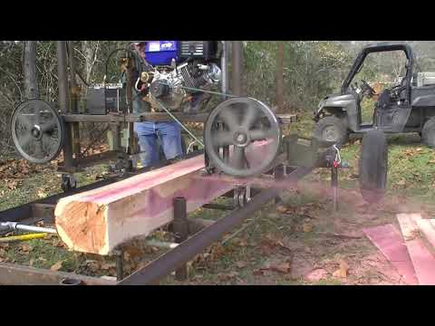 187 RSW Homemade Sawmill MO Red Cedar Part 3