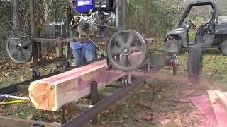 187 RSW Homemade Sawmill MO Red Cedar Part 3