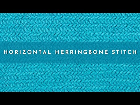 How To Knit The Horizontal Herringbone Stitch Youtube