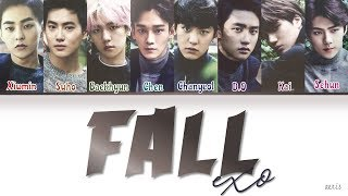 EXO (엑소) - 'FALL' LYRICS [Color Coded Lyrics Eng/Rom/Han]