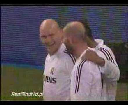 Guti's ridiculous backheel assist to Zidane