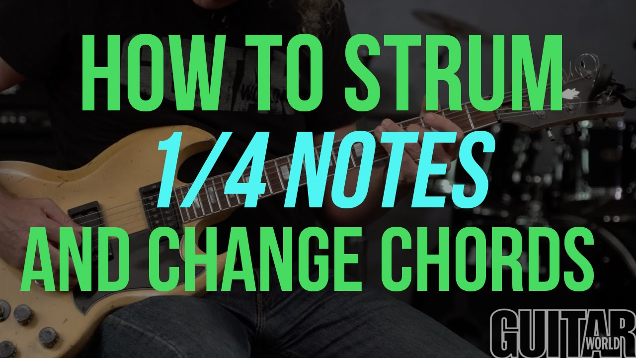 How To Strum 14 Notes And Change Chords Cleanly Guitar Basics
