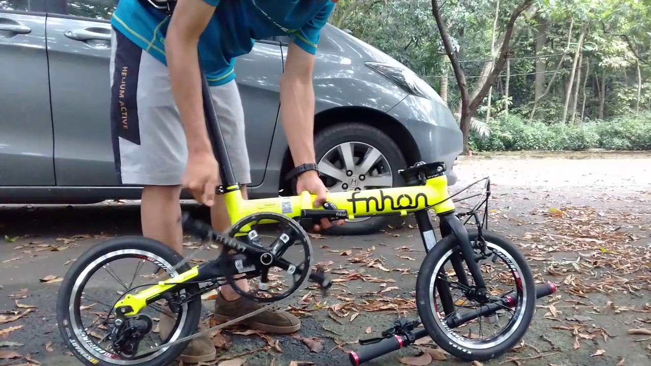 Fnhon freedom folding bike - YouTube