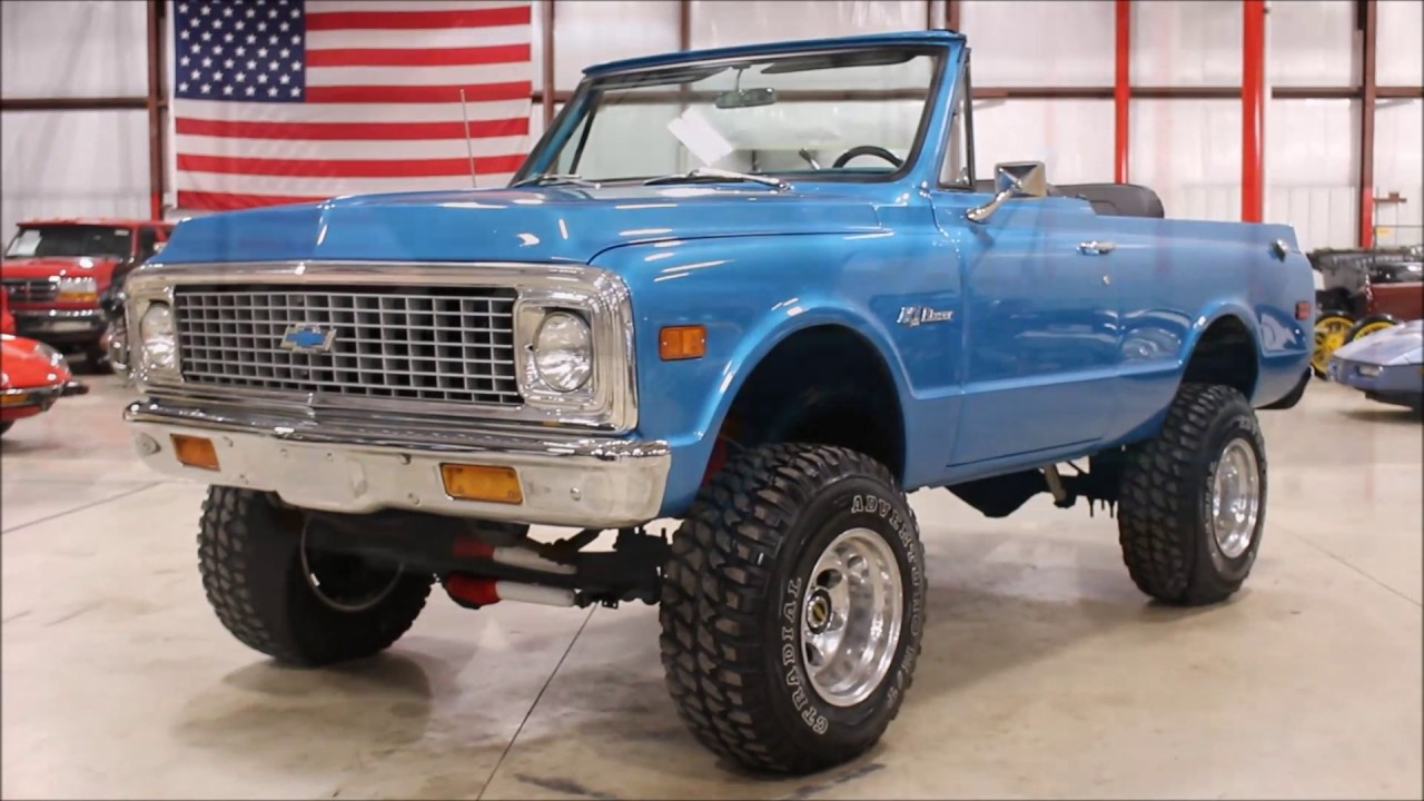 1971 chevy Blazer blue - YouTube