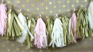 DIY Tissue PomPom Garland  ShowMeCute