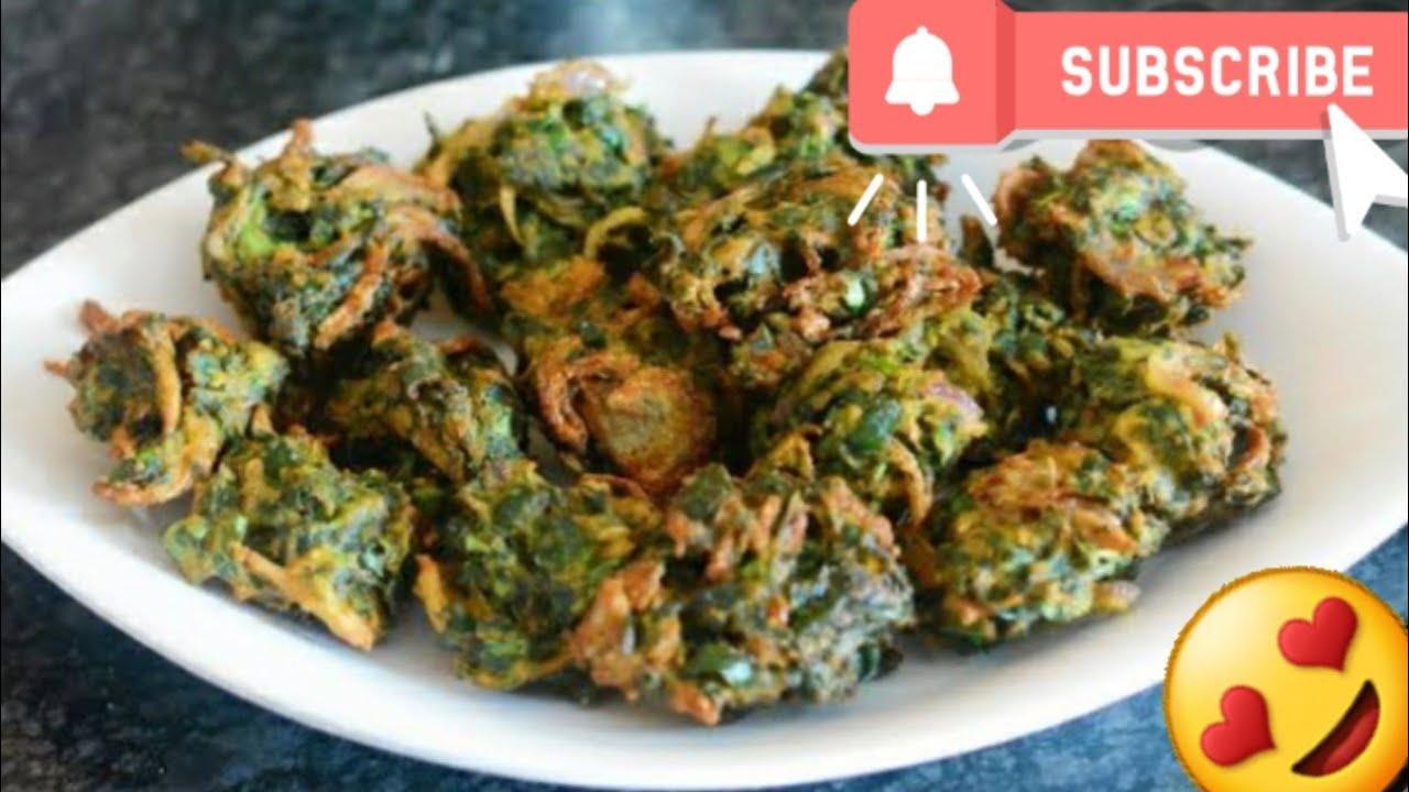 Download ll Palak ke Pakode made at Home😍😋ll Healthy Snacks Indian Recipe🥰ll By navsukhman vlogs ll