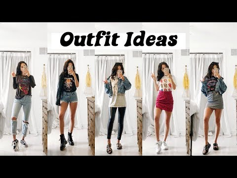 6 OUTFIT IDEAS 2019   Styling Graphic & Band Tees