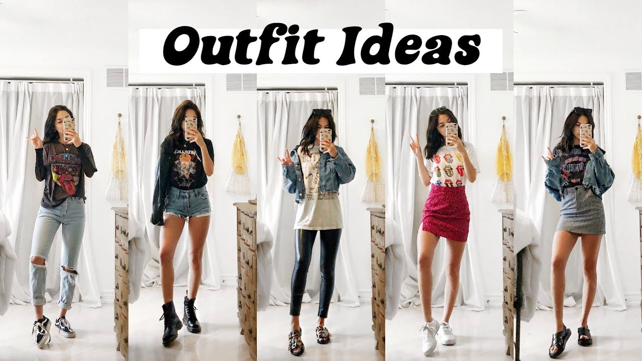 6 OUTFIT IDEAS 2019 | Styling Graphic & Band Tees