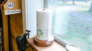 Handcrafted Mesquite Paper Towel Holder