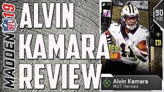 How Good is 90 Overall MUT Hero Alvin Kamara? Madden 19 Ultimate Team Card Review