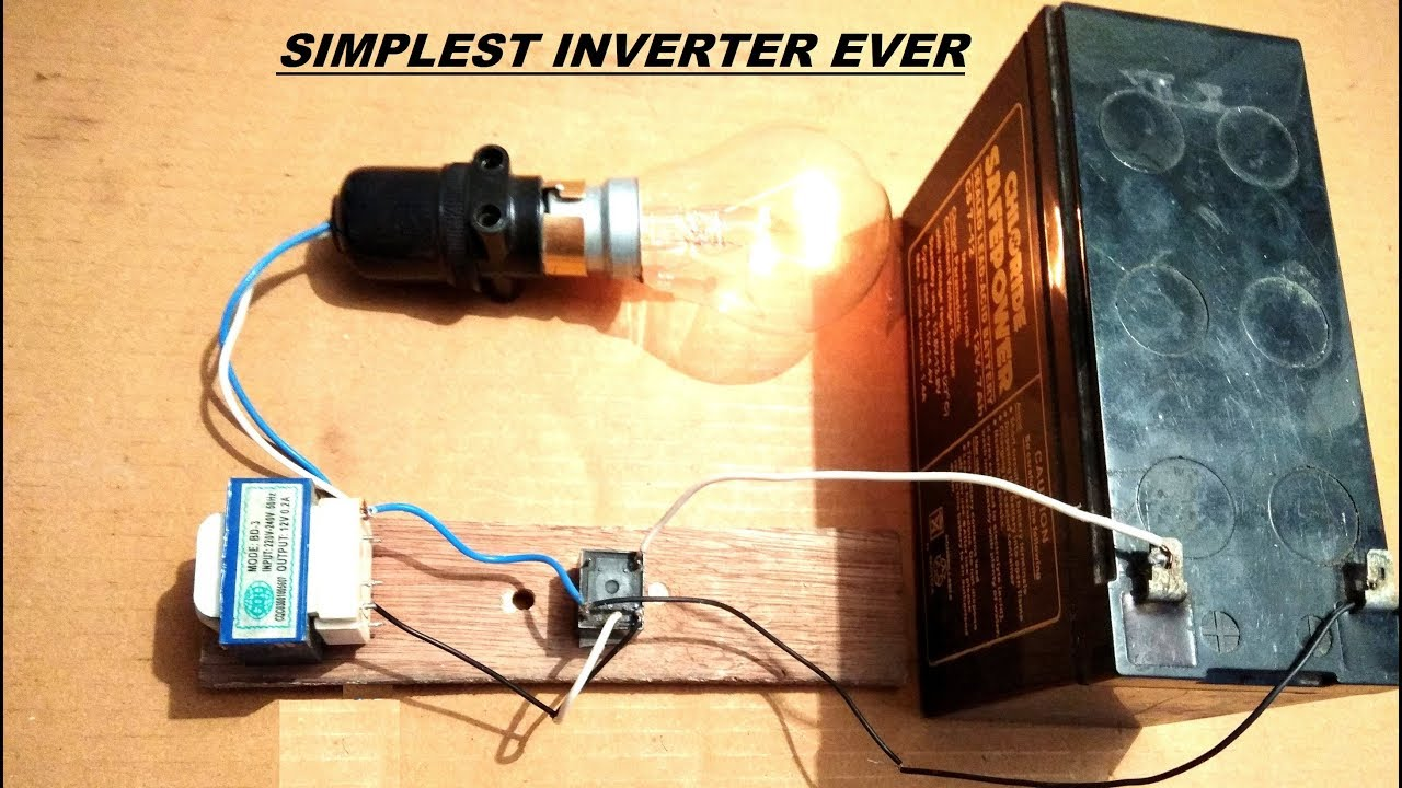 Simplest Inverter Ever Made 12v Dc To 220v Ac Diy Youtube 500w Mosfet Power From 110v Circuit Diagram